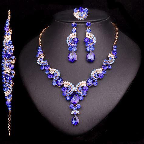 landau jewelry costume jewelry bridal jewelry fashion crystal wedding jewelry sets for bride party