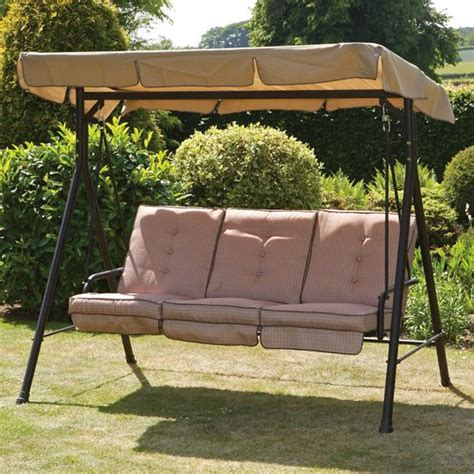 swing seats for garden wareham sahara 3 seat swing seat internet gardener