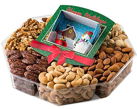 christmas holiday gourmet food baskets nuts gift basket mixed nuts 7 different nuts five star gift baskets jumbo happy new year gift baskets fresh variety of gourmet nuts miniature handmade