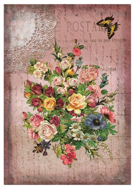 Printable Decoupage Paper - collage decoupage paper dgr111 calambour decoupage