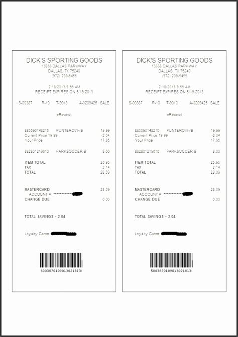 Electronic Donation Receipt Template by 5 Sle Receipt Template Sletemplatess