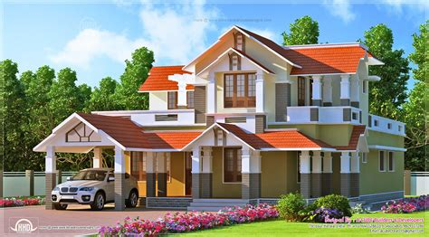 kerala style home design in 2900 sq house