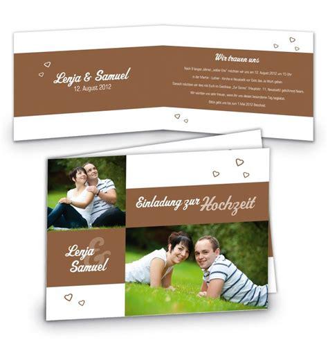 Hochzeitseinladung Din A5 by Klappkarte Hochzeit Einladungskarte Din A5 Din A6 Quer
