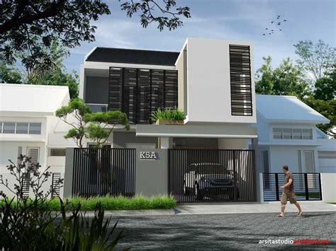 denah rumah minimalis  lantai elegan  modern klikbuzz