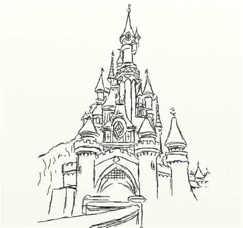 disney frozen castle coloring pages