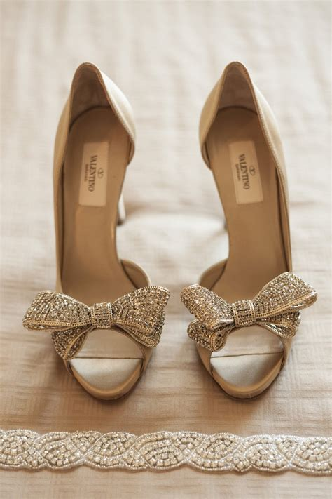 wedding heels shoes bags photos bow heels by valentino