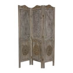 Privacy Screen Room Divider Shop Furniture Room Dividers 3 Panel Distressed Wood Folding Indoor Privacy Screen At