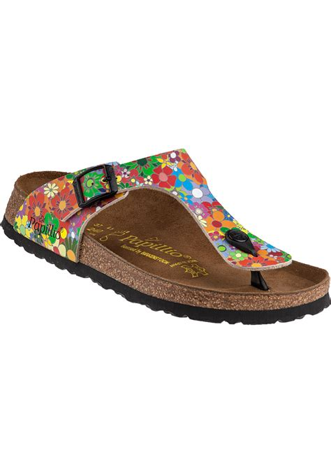 hippy sandals birkenstock gizeh sandal hippie flower birko flor lyst
