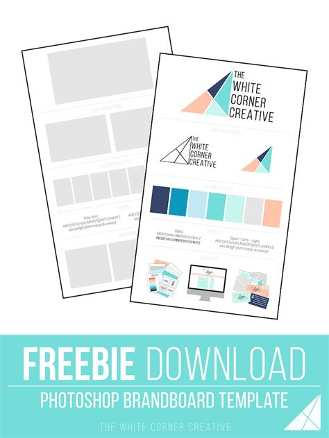 new branding a free brand board template the white
