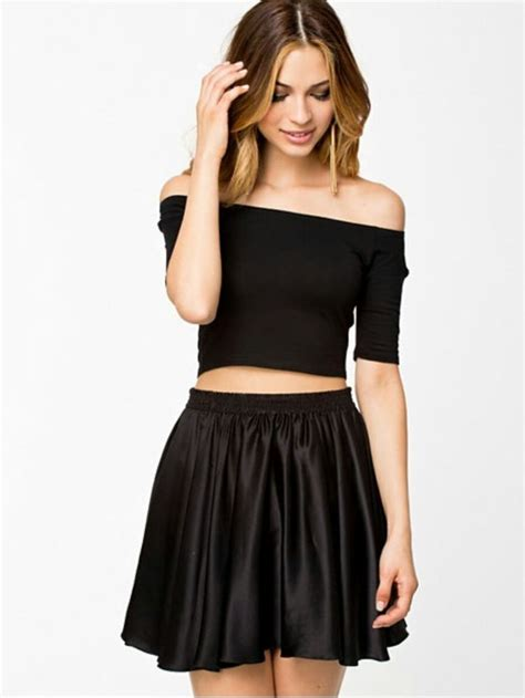 Sequins 3d Butterfly Black White Size M L new shoulder slim fit bardot 3 4 sleeve crop t shirt top size 8 14 ebay