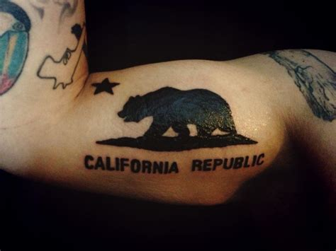 ca logo tattoo designs california republic bear pictures to pin on pinterest