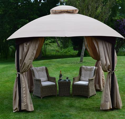 pavillon 2m x 3m chelsea 3m x 3m deluxe domed gazebo weaves furniture