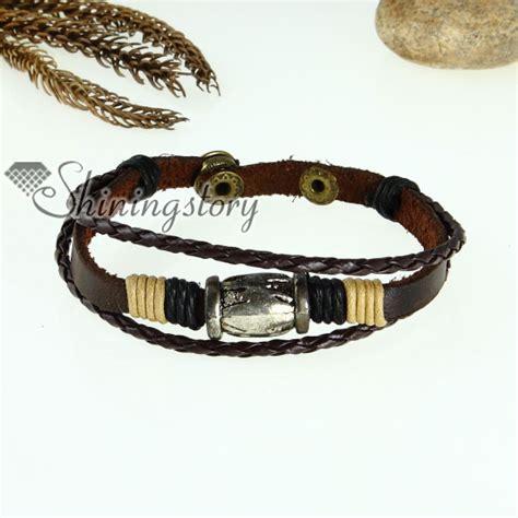 Genuine Leather Charm Bracelet genuine leather charm wrap bracelets unisex wholesale