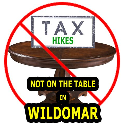 Tax Rap by Wildomar Rap No Tax Increase Talk From Wildomar