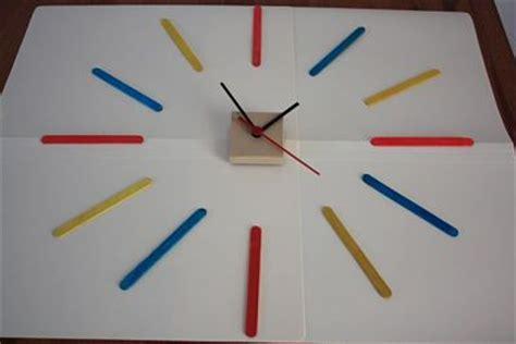 membuat jam dari kardus membuat jam dinding cantik dan unik dari stik es krim