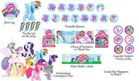 my little pony printable birthday decorations 7 best images of my little pony birthday printables my