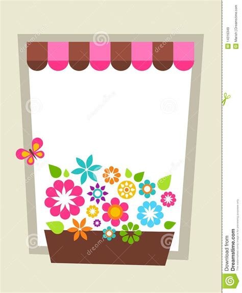 shaped birthday card templates decorated window shaped card template royalty free stock