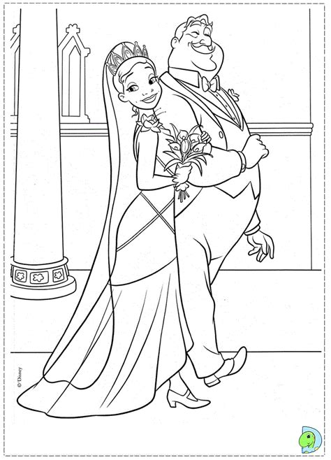 coloring page of princess and the frog princess and the frog coloring pages