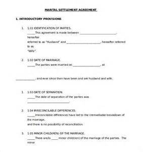 marital settlement agreement template separation agreement template 10 free word pdf