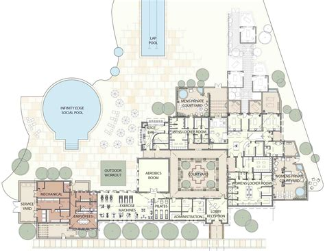 la fitness floor plan la estancia de cafayate spa and fitness zehren associates
