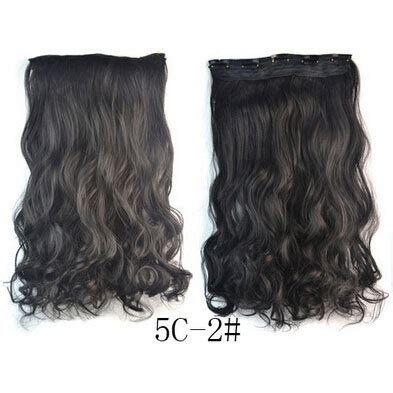Hair Extension Clip Wig Rambut Palsu 4a 1 hair extension clip wig rambut palsu 5c 2 black