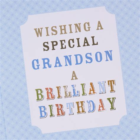 Grandson Birthday Card Birthday Card Car Print Grandson Only 99p