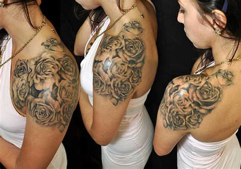 rose tattoos on front shoulder 113 best shoulder tattoos for