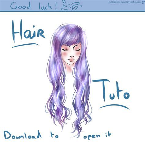 hair tutorial on paint tool sai by dollneko on deviantart
