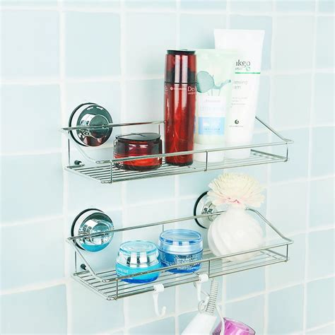 bathroom shelf suction 1pcs korea dehub bathroom shelf toilet sucker suction wall