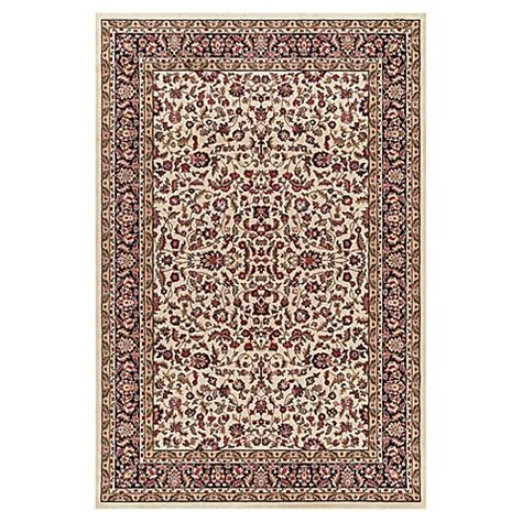 9 foot area rugs buy kashan 7 foot 10 inch x 9 foot 10 inch area rug in ivory black from bed bath beyond