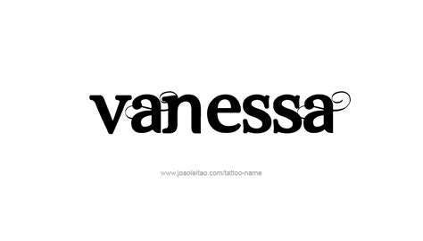 vanessa name tattoo pictures to pin on pinterest tattooskid