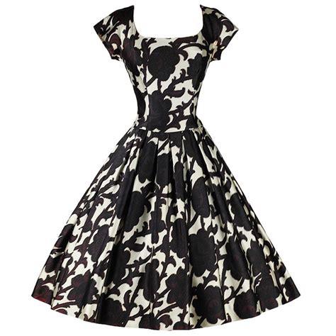 Black And White Vintage Dress vintage 1950 s pauline trigere black white silk satin cocktail dress at 1stdibs