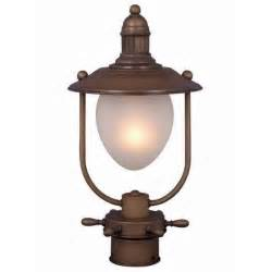 Nautical Outdoor Light Fixtures New 1 Light Outdoor Nautical Post L Lighting Fixture Antique Copper Bronze Ebay
