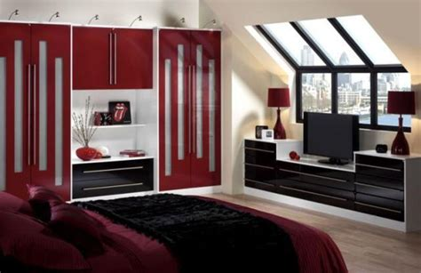 red  black bedroom design design bookmark