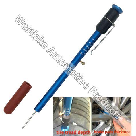 brake pads thickness gauge tire tread depth gauge measuring checking tool