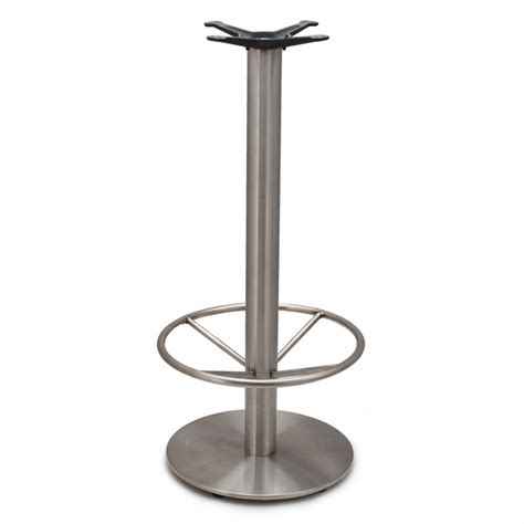 bar height table base with ring jss18 stainless steel table base bar height 40 3 4