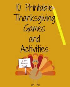 printable thanksgiving games 10 free printable thanksgiving games and activities