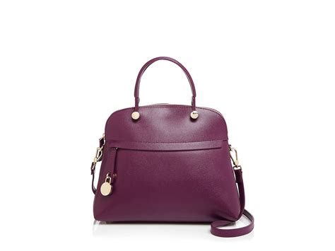 Furla Piper Dome Medium lyst furla piper medium dome satchel in purple