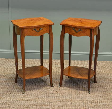 antique side table pair of vintage kingwood antique side tables antiques