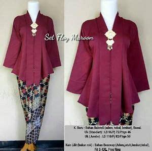 set ploy maroon pakaian wanita desain blus  model