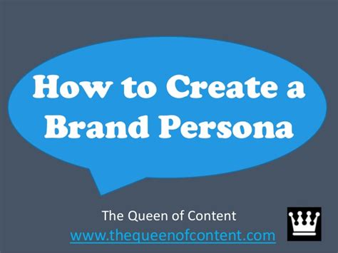 how to start a brand how to create a brand persona