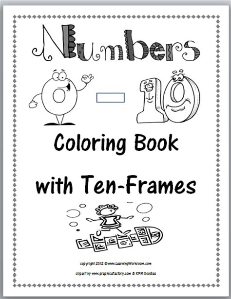 printable numbers book learning ideas grades k 8 july 2012