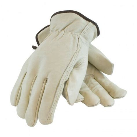 Cowhide Leather Work Gloves - cowhide leather work gloves w keystone thumb size small