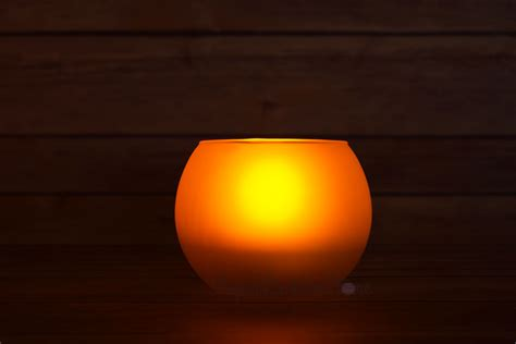 round tea light flameless led candle in frosted glass
