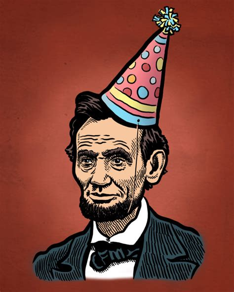 abe lincoln birthday print