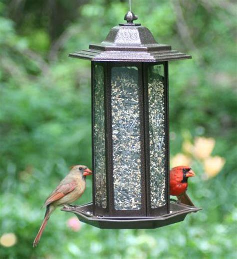 birdscapes 366 tall tulip garden lantern bird feeder in