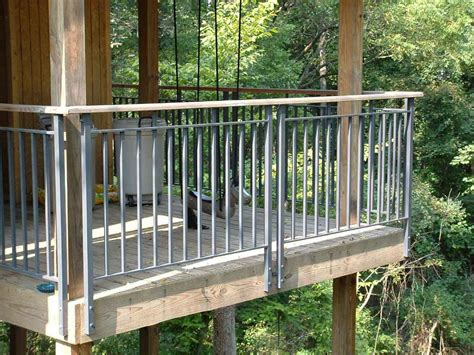 Ladder For Bookcase With Rail Luxury Metal Deck Railing Ideas Doherty House Strong