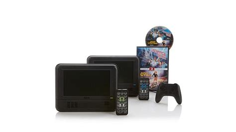 dvd player games format rca 2pk portable dvd players w game controller movies