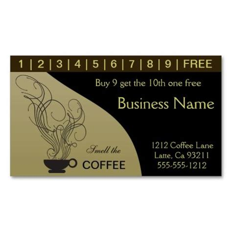 punch card business card template 17 best images about coffee shop business cards on