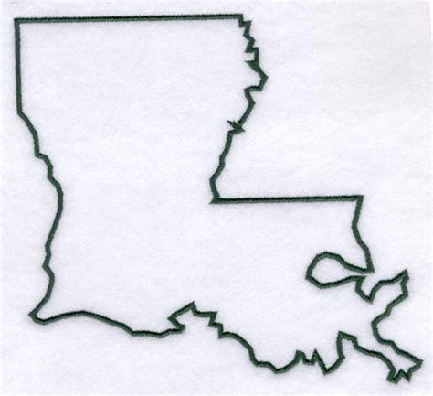 louisiana outline far away